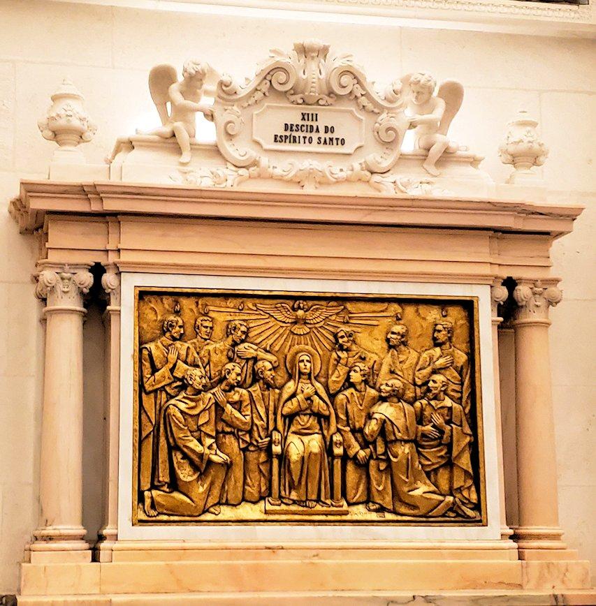 ポルトガルの聖地ファティマの大聖堂内に置かれていた、イエスキリストのレリーフ6枚目