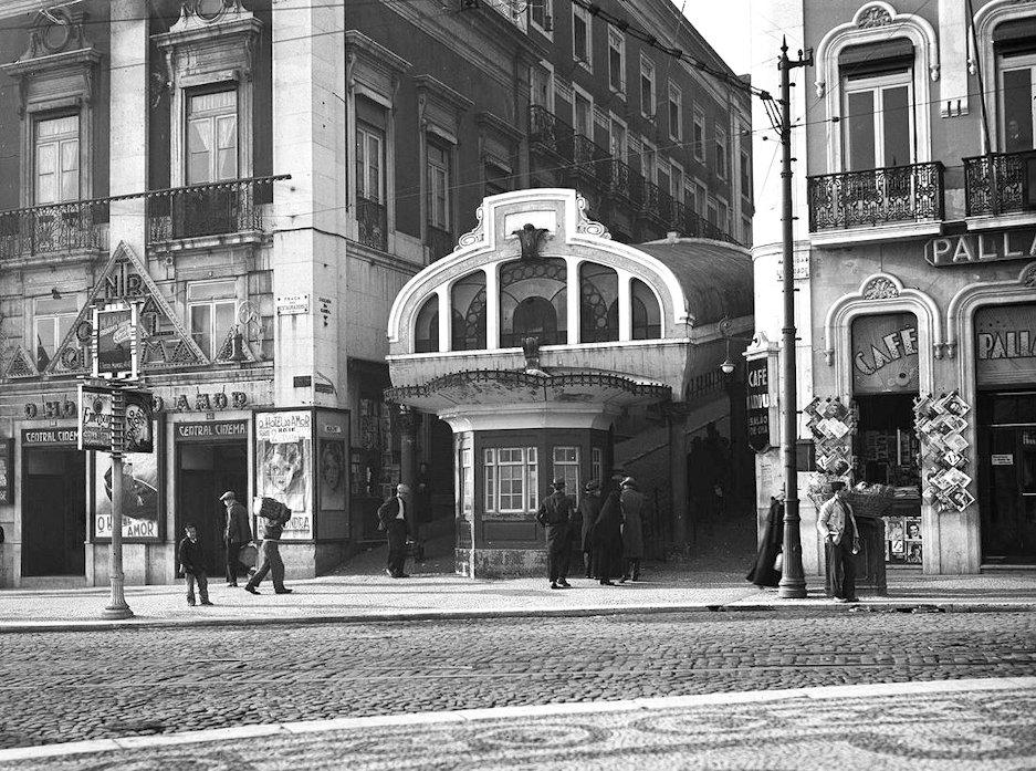 昔のグロリア線ケーブルカー駅の写真