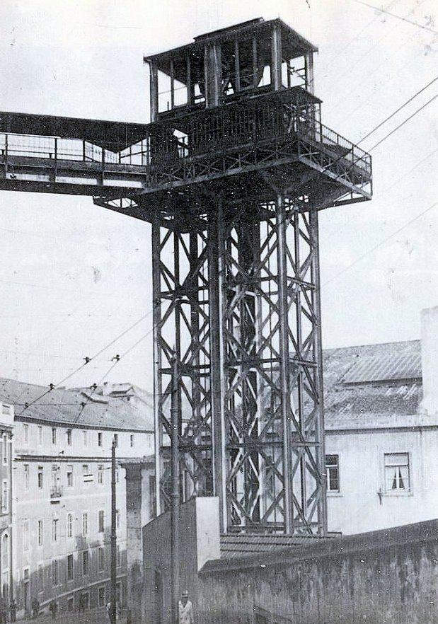 昔のサン・ジュスタのエレベーターの写真