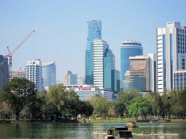 タイの首都バンコクの街の景色