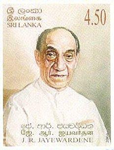 スリランカの偉大な元第二代大統領であるジュニウス・リチャード・ジャヤワルダナ(Junius Richard Jayewardene)
