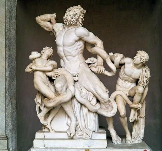 『ラオコーン像』(Gruppo del Laocoonte)のオリジナル作品