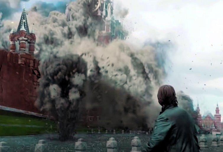 ミッションインポッシブルゴースト・プロトコルでトムクルーズが歩く赤の広場が爆破される