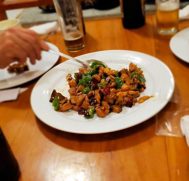 レストランの「SAKURA(さくら)」で出てきた中華料理