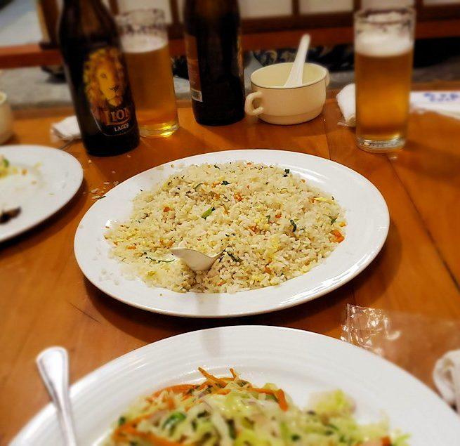 レストランの「SAKURA(さくら)」で出てきたチャーハン