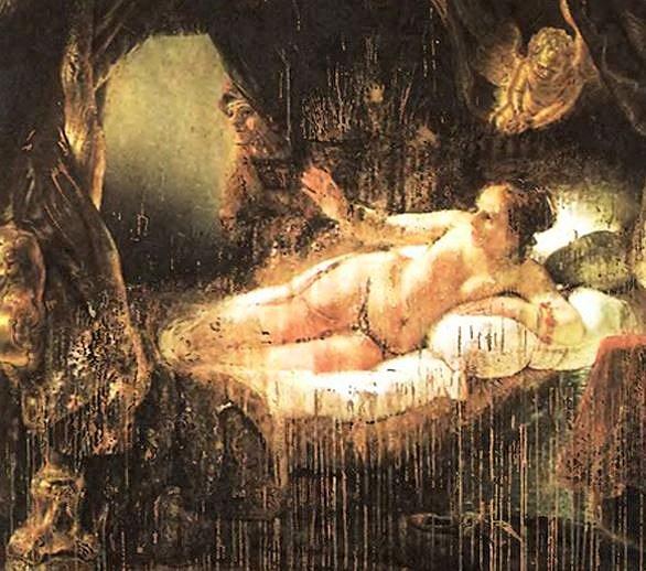 硫酸を掛けられたレンブラント作「ダナエ」-エルミタージュ美術館