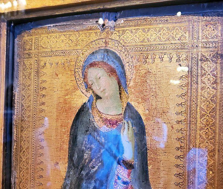 「初期イタリア・ホール」に飾られている『受胎告知の聖女』(Saint Luke Drawing the Virgin)-2